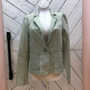 Anthropologie Cartonnier Mint Green Blazer Jacket